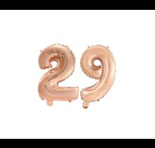 Folieballon 29 jaar Rosé Goud 41cm