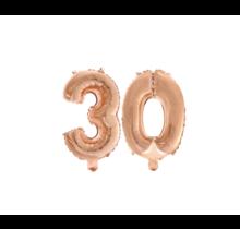 Folieballon 30 jaar Rosé Goud 41cm