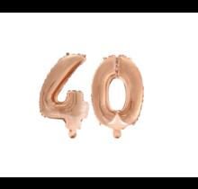 Folieballon 40 jaar Rosé Goud 41cm