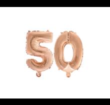 Folieballon 50 jaar Rosé Goud 41cm