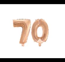 Folieballon 70 jaar Rosé Goud 41cm