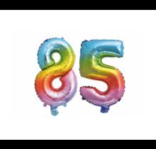 Folieballon 85 jaar Regenboog 86cm