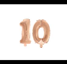 Folieballon 10 jaar Rosé Rosé Goud 41cm