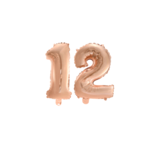 Folieballon 12 jaar Rosé Rosé Goud 41cm