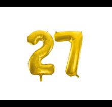 Folieballon 27 jaar Goud 41cm