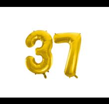 Folieballon 37 jaar Goud 41cm