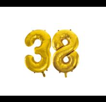 Folieballon 38 jaar Goud 41cm