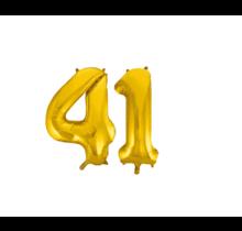 Folieballon 41 jaar Goud 41cm