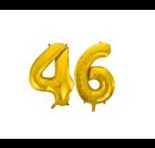 Folieballon 46 jaar Goud 41cm