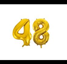 Folieballon 48 jaar Goud 41cm