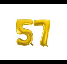 Folieballon 57 jaar Goud 41cm