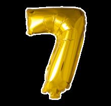 Folieballon 7 jaar Goud 41cm