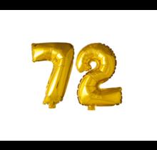 Folieballon 72 jaar Goud 41cm