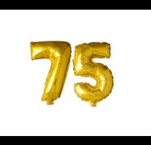 Folieballon 75 jaar Goud 41cm