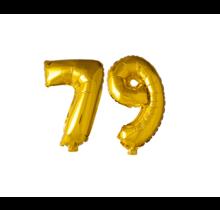 Folieballon 79 jaar Goud 41cm