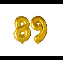Folieballon 89 jaar Goud 41cm