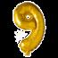 Feest-vieren Folieballon 9 jaar Goud 41cm