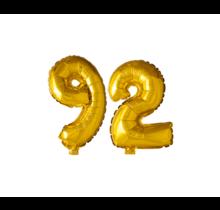 Folieballon 92 jaar Goud 41cm
