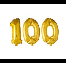 Folieballon 100 jaar Goud 41cm