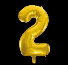 Folieballon 2 jaar Goud 41cm
