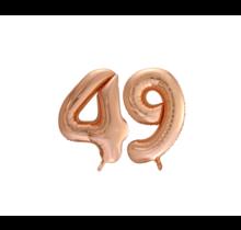 Folieballon 49 jaar Rosé Goud 86cm
