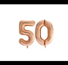 Folieballon 50 jaar Rosé Goud 86cm