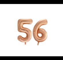 Folieballon 56 jaar Rosé Goud 86cm