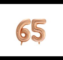 Folieballon 65 jaar Rosé Goud 86cm