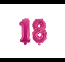 Folieballon 18 jaar roze 86cm