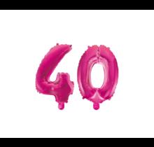Folieballon 40 jaar roze 86cm