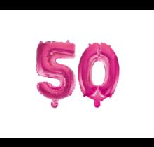 Folieballon 50 jaar roze 86cm