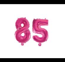 Folieballon 85 jaar roze 86cm