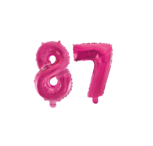 Folieballon 87 jaar roze 86cm