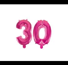Folieballon 30 jaar roze 41cm