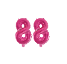 Folieballon 88 jaar roze 41cm