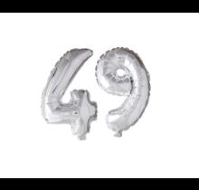 Folieballon 49 jaar zilver 86cm