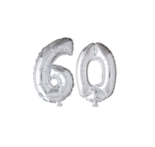 Folieballon 60 jaar zilver 41cm