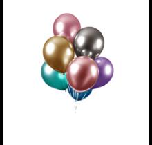 Chrome spiegel ballon gemixed 10 stuks