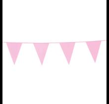 10 meter baby roze vlaggenlijn