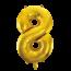 Feest-vieren Folieballon 8 jaar Goud 86cm