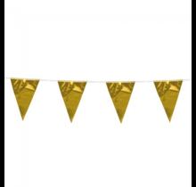 10 meter metallic gouden vlaggenlijn