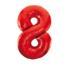 Feest-vieren Folieballon 8 jaar rood 86cm