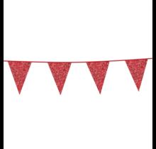 6 meter rode glitter vlaggenlijn