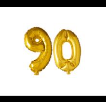 Folieballon 90 jaar Goud 41cm