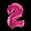 Feest-vieren Folieballon 2 jaar roze 41cm