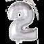 Feest-vieren Folieballon 2 jaar zilver 41cm