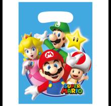8 uitdeelzakjes Super Mario
