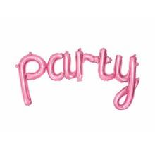 Folie ballon PARTY, roze