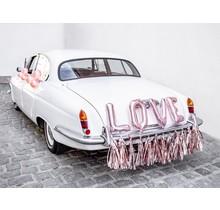 Auto decoratie set LOVE, Rosé Goud