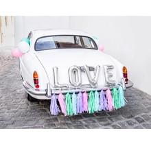 Auto Decoratie set LOVE, Zilver